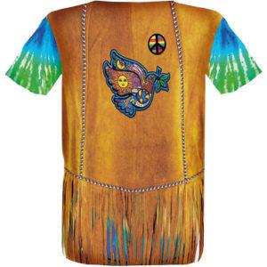 """Das Motiv """"Hippie"""" als Motiv-T-Shirt von Luna Tex"""