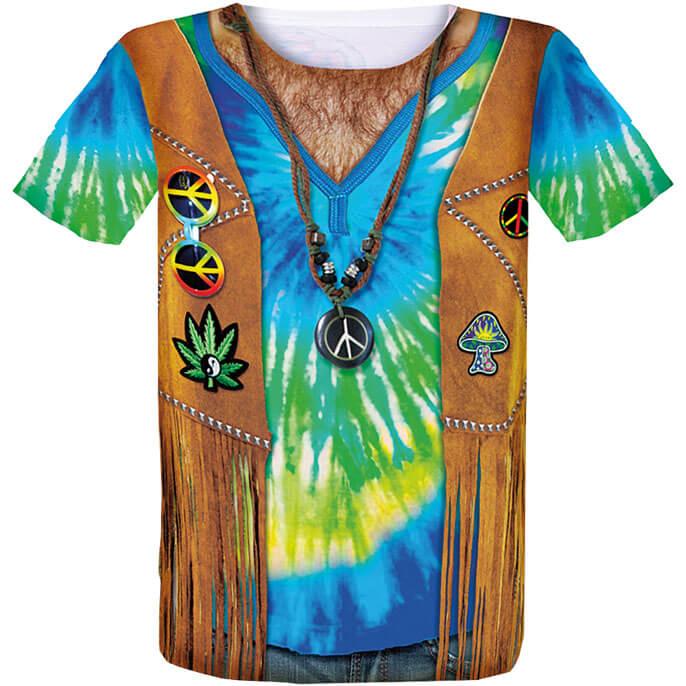 Kostüm-Shirt Motiv Hippie von Luna Tex