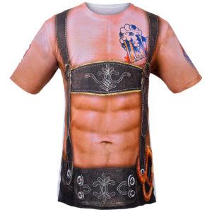 """Das T-Shirt mit fotorealistischem Aufdruck """"Sexy Lederhose"""""""
