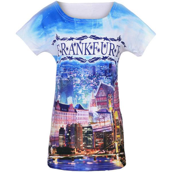 Motivshirt, Themen Shirt, Souvenir Shirt mit Städtemotiv Frankfurt