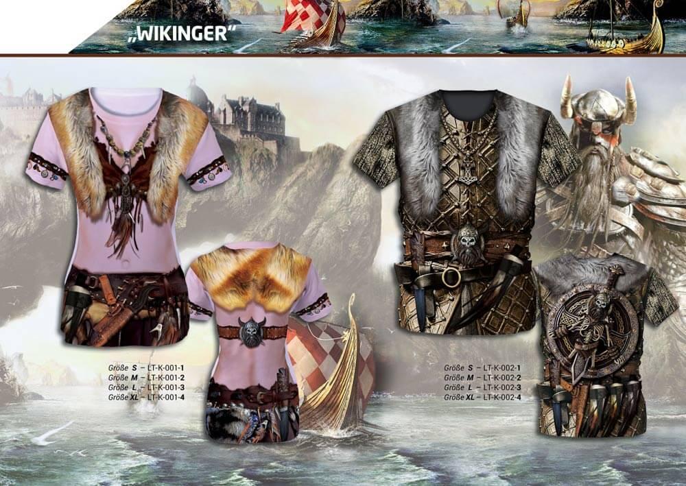 """Luna Tex katalog Motive """"Wikinger"""" Fun Shirts Kostüm T-Shirt"""