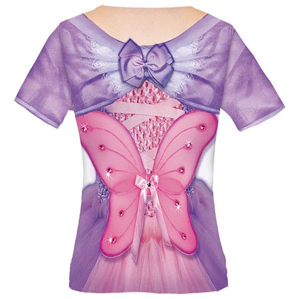 Kindershirt Kostüm-Shirt Prinzessin Butterfly