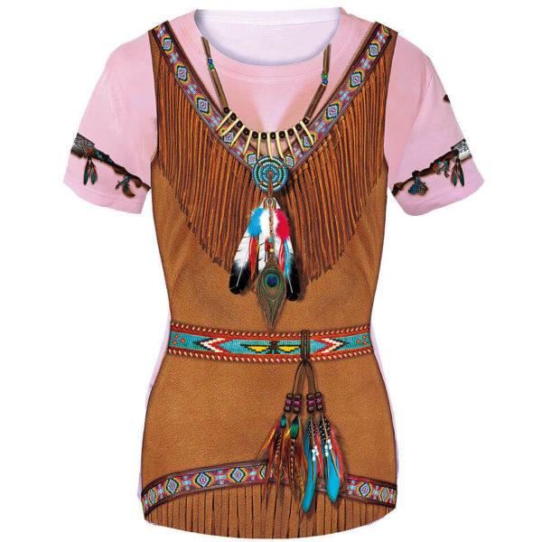 "Damenshirt mit dem Motiv ""Indianer"", Fun Shirt, Kostüm"