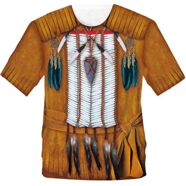 """Herrenshirt mit dem Motiv """"Indianer"""", Fun Shirt, Kostüm"""