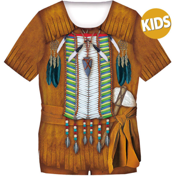 """Kindershirt für Jungs mit dem Motiv """"Indianer"""", Fun Shirt, Kostüm"""