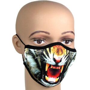 Mundschutz Corona, Mund-Nasenschutz fotorealistischer Druck Motiv Tiger