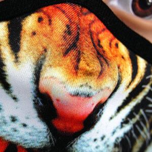 Fotorealistischer Druck auf Coronamaske - Motiv: Tiger