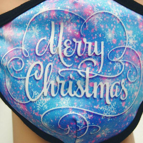 Mundschutz für Kinder «Merry Christmas» Detail