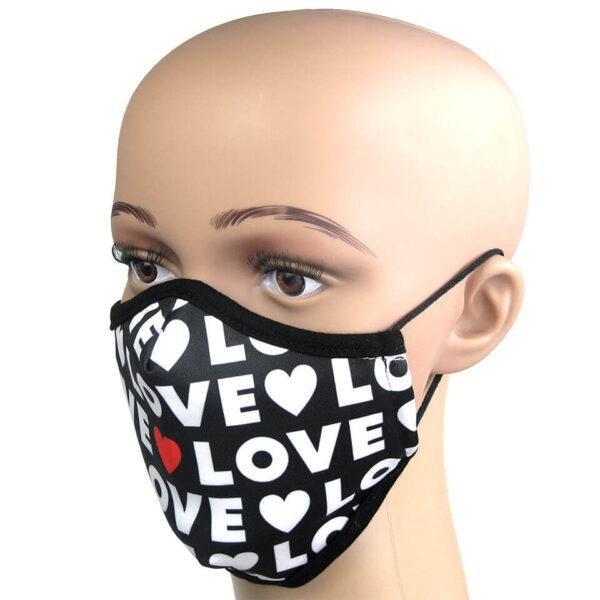 I Love You - Motiv Schutzmaske gegen Infektionsrisiko
