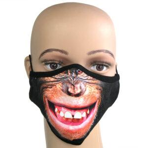 Fotorealistischer Druck auf Corna-Maske Motiv Affe