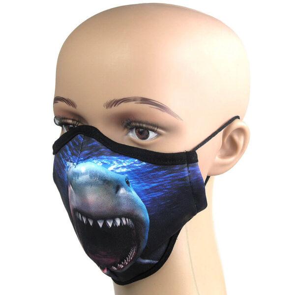 Infektionsschutz der nicht langweilig ist: Corona maske mit Motiv Hai