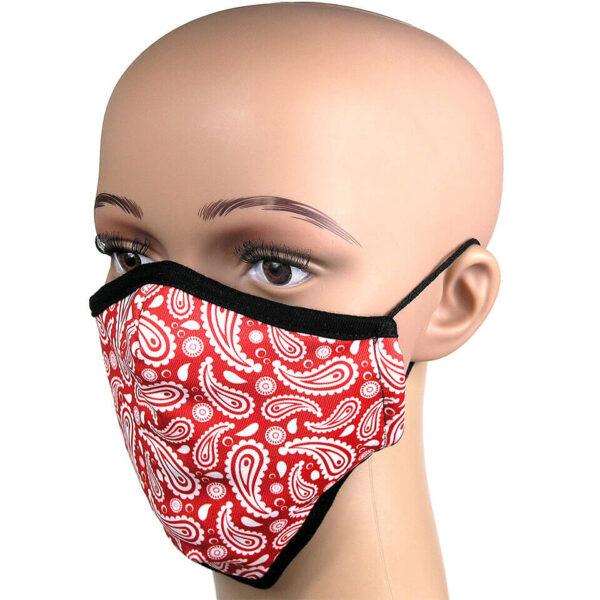 Motiv Paisley in Rot - Schutzmaske
