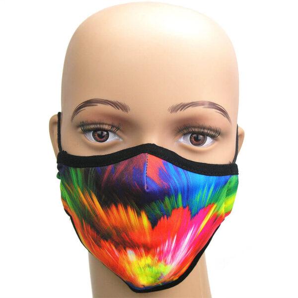 Corona Maske: Feuerwerk der Farben