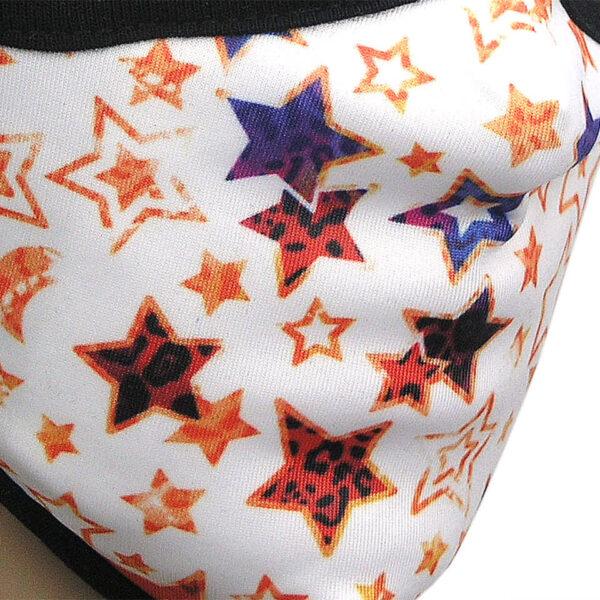 Corona Mundschutz Motiv Sterne «Stars» - im Detail