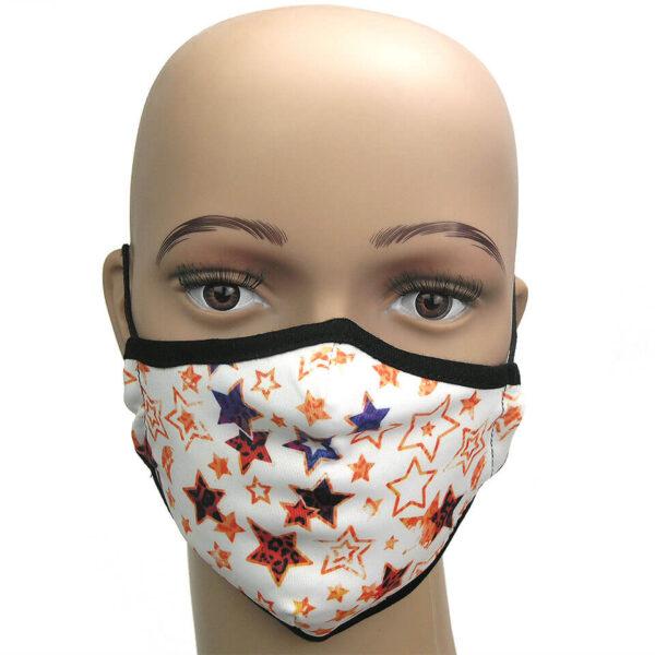 Stars - ein Motiv der Kollektion Corona Schutzmasken bei Luna Tex