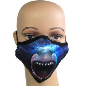 Corona Maske Motiv «Der Weiße Hai»