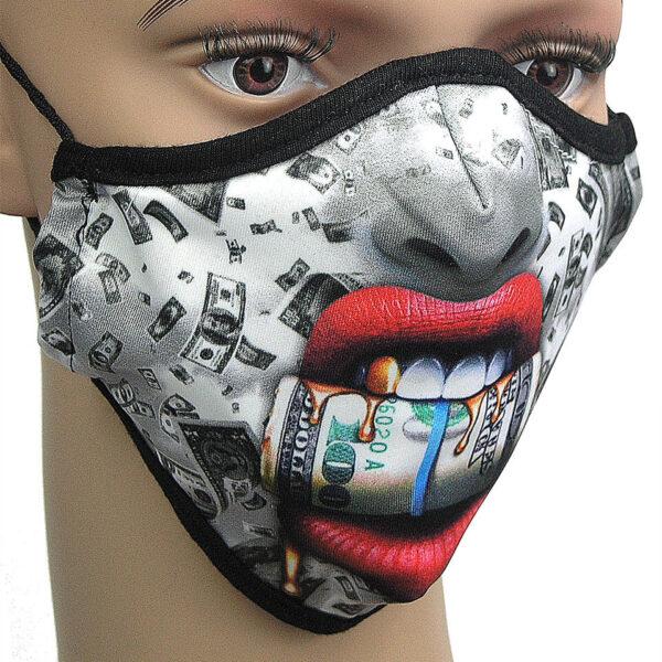 Money = Motiv für Corona-Maske