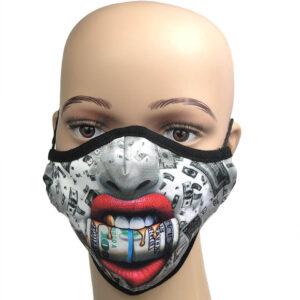 Lustige Masken, Mundnasenschutz - fotorealistischer Druck «Money»