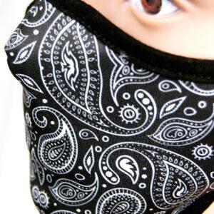 Detail Paisleymuster Corona Maske