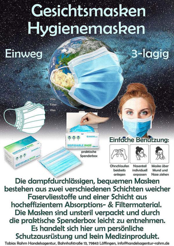3-lagige Einwegmaske, OP-Maske